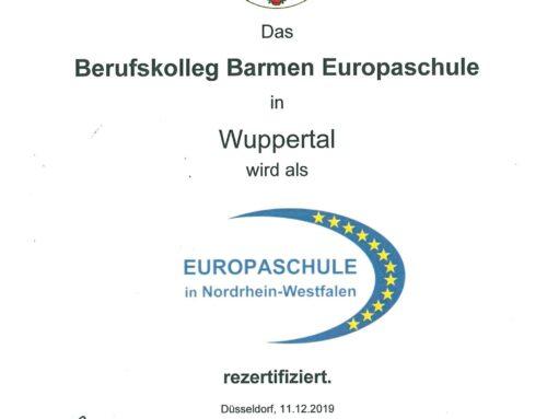 Zweite Rezertifizierung als Europaschule